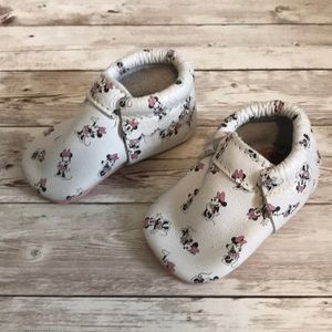 Freshly picked Minnie Mouse moccasins